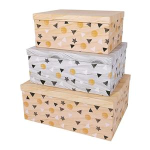 Caja de embalaje de papel de cartón de cumpleaños de lujo OEM de fábrica