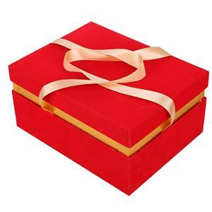 caja de empaquetado de lujo de encargo de la boda del caramelo de cartón