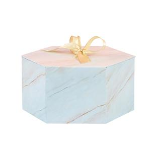 Manufacturer Luxury Hexagon style offset printing gift packaging paper box