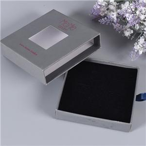 Factory wholesale paperboard drawer gift box plastic window opening cardboard gift packaging box