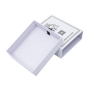 Caja de regalo del cajón deslizante de la tarjeta de crédito negra mate del fabricante de la fábrica