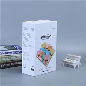 Custom Logo Matte White Cardboard Book Shape Style Magnetic Closure Gift Box Packaging Box