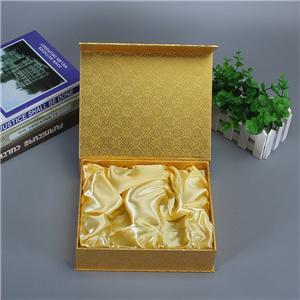 Boîte-cadeau de fermeture magnétique de couvercle rabattable de luxe personnalisé