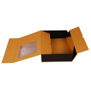 eco friendly luxury custom Folding boxes for gift pack with window