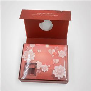 caja plegable de regalo de cartón en forma de libro de lujo ecológico personalizado