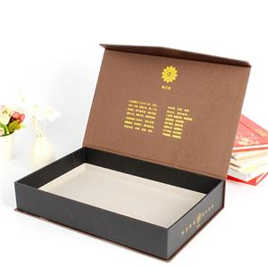eco friendly luxury Book Shaped cardboard magnetic foldable gift box