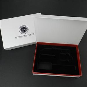 Caja de forma de libro de regalo plegable de cartón blanco personalizado de fábrica de China