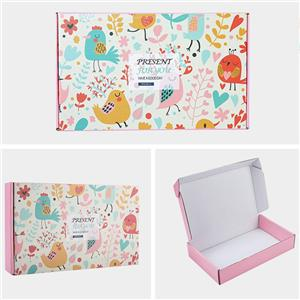 China Factory recyclable corrugated paper fruit gift board box with lid supplier