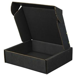 OEM Factory custom made black logo printing garment shipping box