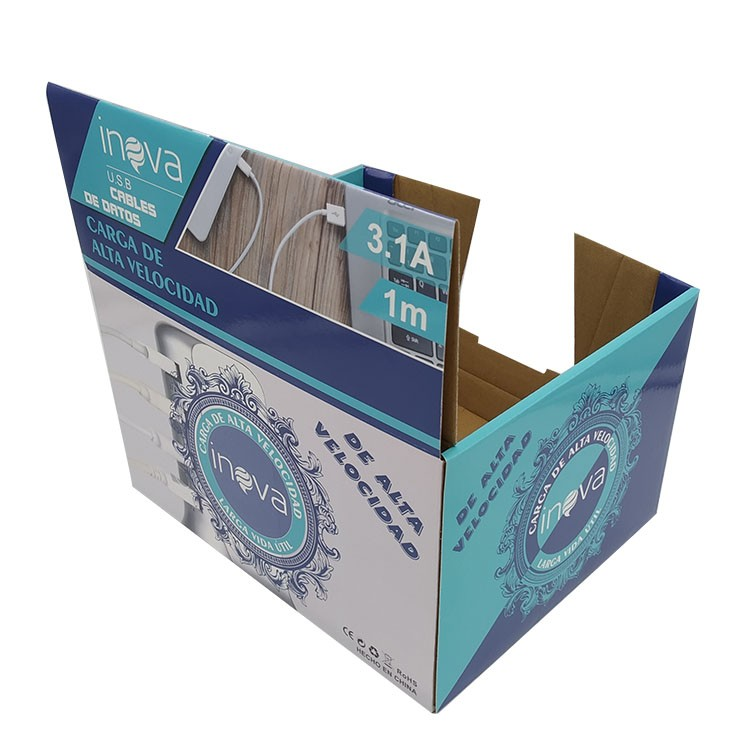 OEM Factory Data cable paper packaging box customized design with PET window