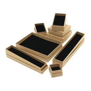 Factory Wholesale Kraft Jewelry Ring Packing Box With Foam Insert,Kraft Paper Packaging Boxes For Jewellery