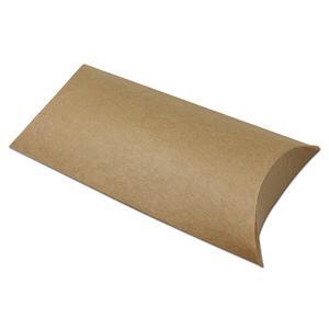 卸売工場供給クラフト枕ボックスブラウンクラフト紙箱