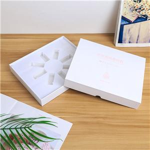 cosmetic gift box CMYK printing coated paper with EVA insert