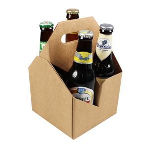 Scatola ondulata su ordinazione del cartone della carta kraft della fabbrica dell'OEM per birra