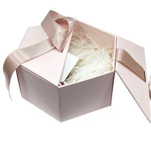 Cajas de flores de forma personalizada Embalaje de regalo de flores Cajas de cartón rosa