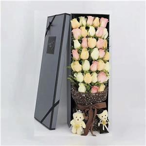 Flower Boxes Customized Color With Custom Logo Printed Folding Box With Removable Lid Paperboard