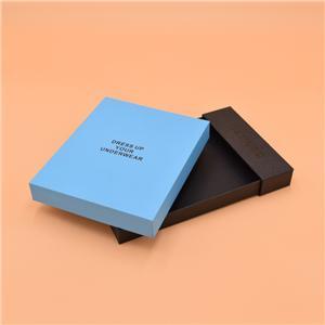 Emballage en papier vêtement sur mesure élégant coffret cadeau