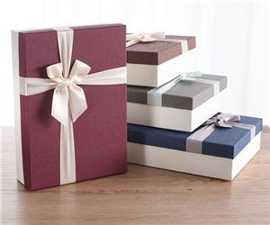 caja de regalo de papel y cartón de tela personalizada