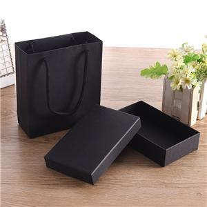 Caja de embalaje negra de lujo personalizada de fábrica