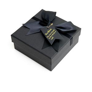 Mini joyero de papel negro de lujo personalizado de fábrica