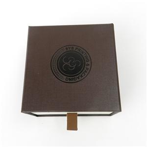 Caja de papel de joyería de papel de lujo de lujo personalizada de fábrica