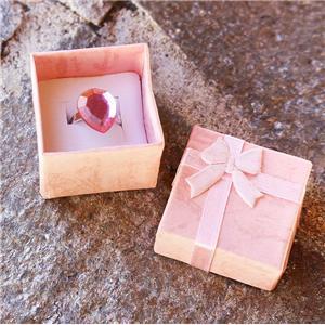 Caja de papel de mini joyería de lujo personalizada de fábrica con tapa