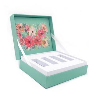 Caja de regalo de papel de té de lujo personalizada de fábrica