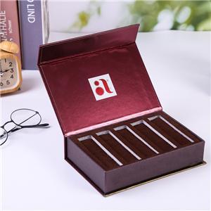 Caja de papel de empaque de té de lujo personalizada de fábrica