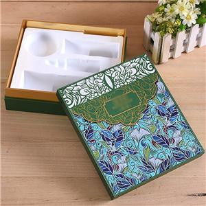 Caja de papel de empaquetado de regalo de té de lujo personalizado de fábrica