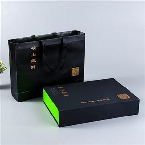 Caja de embalaje de té magnético de lujo personalizado de fábrica