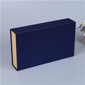 Caja de papel de empaquetado de regalo de té magnético de lujo personalizado de fábrica