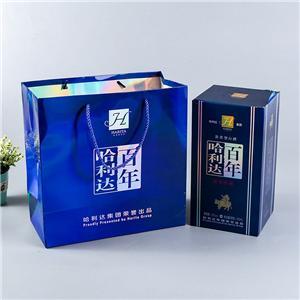 Caja de vino de papel de embalaje de regalo de lujo personalizado de fábrica