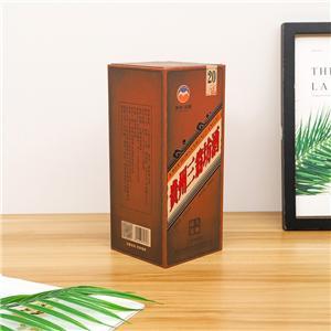 Caja de vino de papel de embalaje de lujo personalizado de fábrica