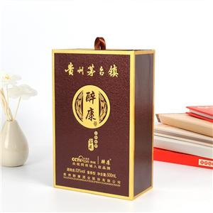 Factory Custom luxury paper wine box