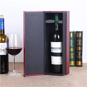 Caja de vino de papel de embalaje magnético de lujo personalizado de fábrica