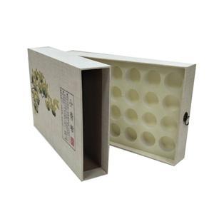 Embalaje de caja de regalo de té de cajón de lujo personalizado de fábrica