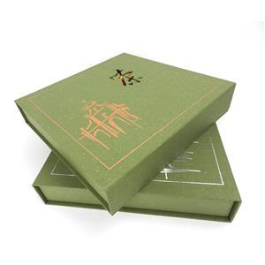 Caja de papel de cajón de empaquetado de té magnético de lujo personalizado de fábrica