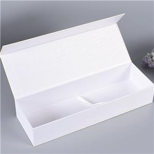 Embalaje de caja de regalo de té magnético de lujo blanco personalizado de fábrica