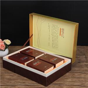 Embalaje de caja de regalo de té magnético rojo de lujo personalizado de fábrica