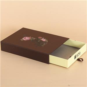 Embalaje de caja de té de regalo de cajón de lujo personalizado de fábrica