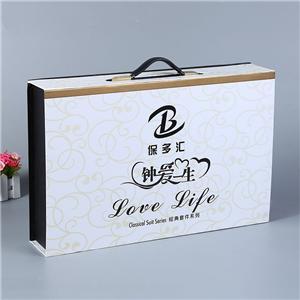 Caja de regalo de papel de lujo personalizada de fábrica