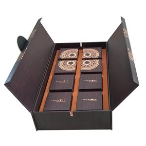 Caja de papel de regalo de imán de lujo personalizado de fábrica