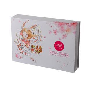 Embalaje de regalo de papel blanco de lujo personalizado de fábrica