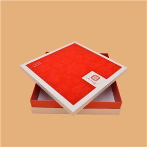 Caja de regalo de cartón rojo de lujo personalizado de fábrica