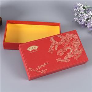 Boîtes en carton rouges de luxe personnalisées en usine