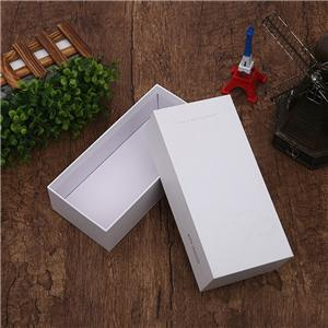 Factory Custom luxury removable lid white cardboard boxes
