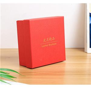 Factory Custom luxury removable lid red cardboard boxes