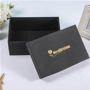 Factory Custom luxury removable lid black cardboard boxes