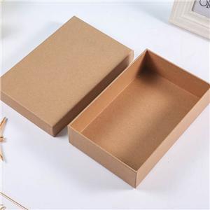Boîtes en carton kraft de couvercle amovible de luxe personnalisé en usine