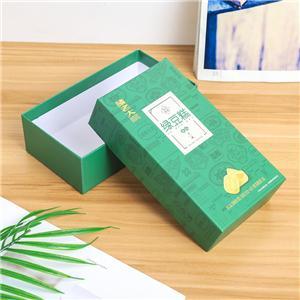 工場カスタムの豪華な緑の取り外し可能なふた紙箱